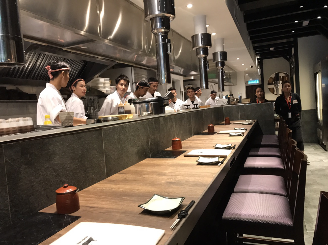 新日本焼肉党クアラルンプールマレーシアのカウンター席