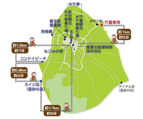 竹富島マップ