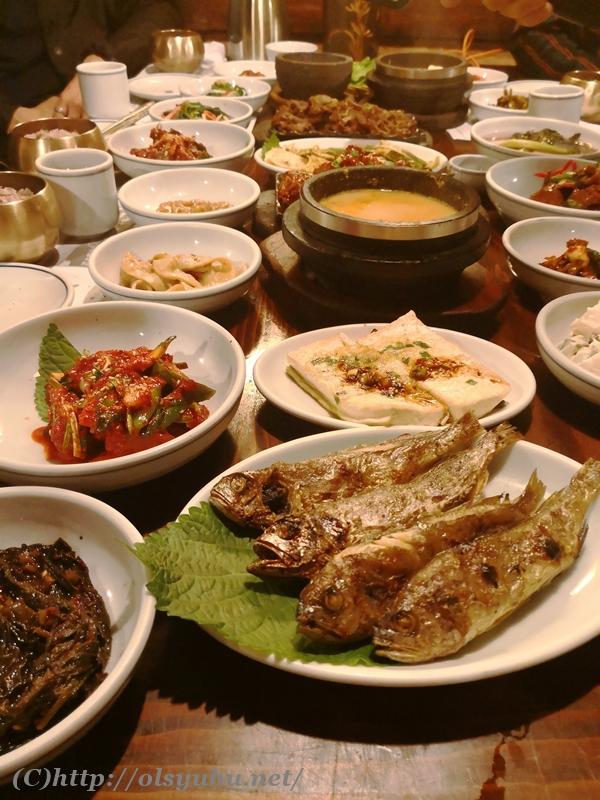韓国グルメ 韓定食おすすめ トダムゴル ソウル江南