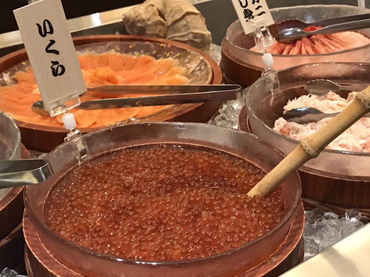 ドーミーイン小樽朝食ビュッフェ海鮮丼