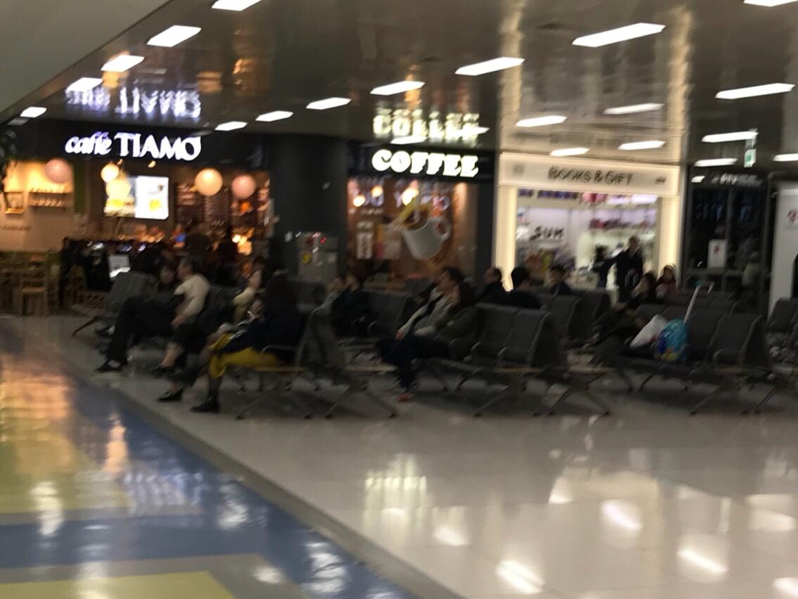 金浦空港 出国手続き後の食事