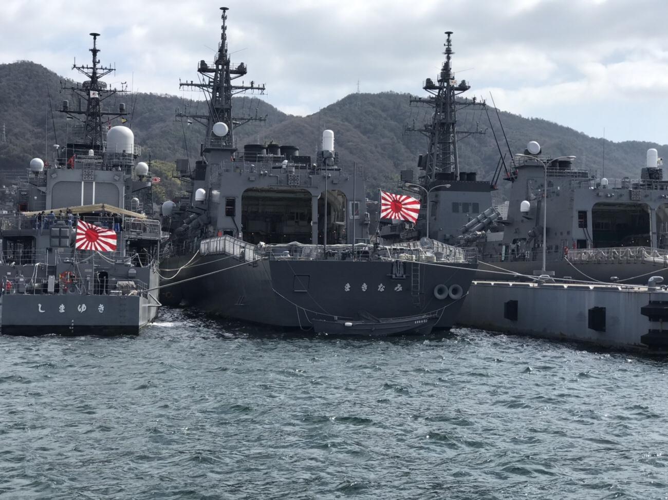 戦艦が近くで観られる呉観光船