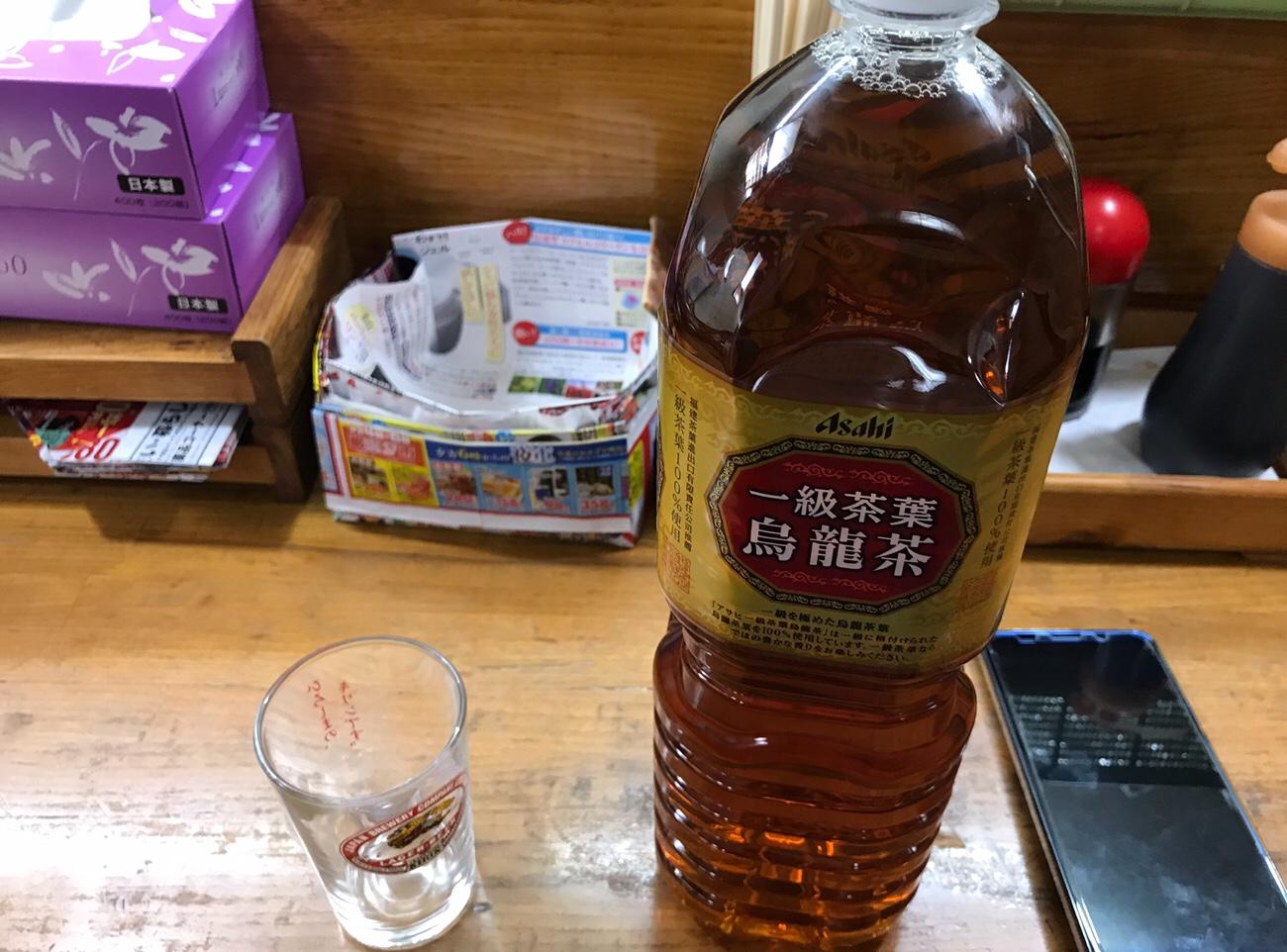 ホルモン天ぷらたかまのウーロン茶