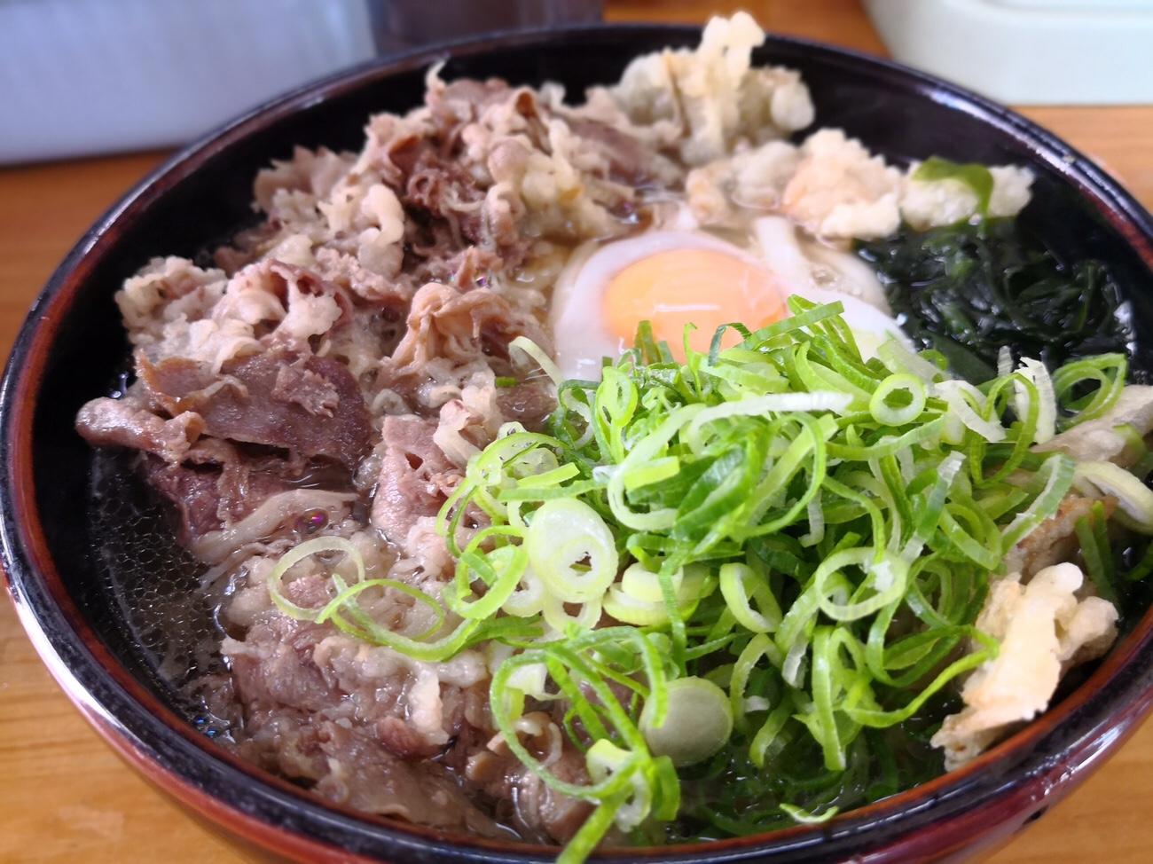 福岡天ぷらうどん唐人町 肉ごぼう天うどん