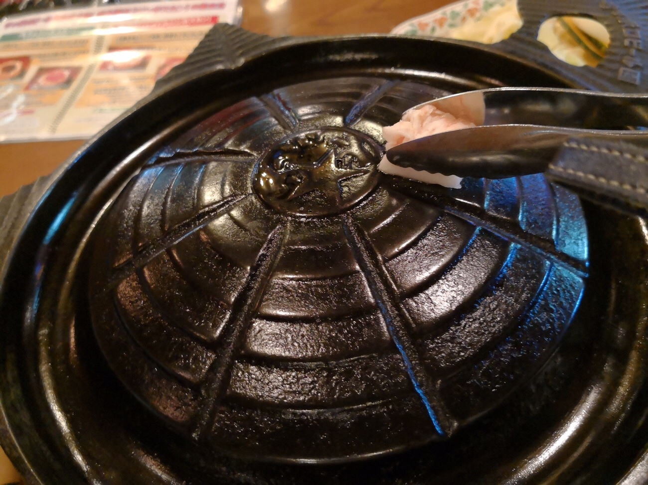 ジンギスカン食べ放題 脂をジンギスカン鍋に サッポロビール園