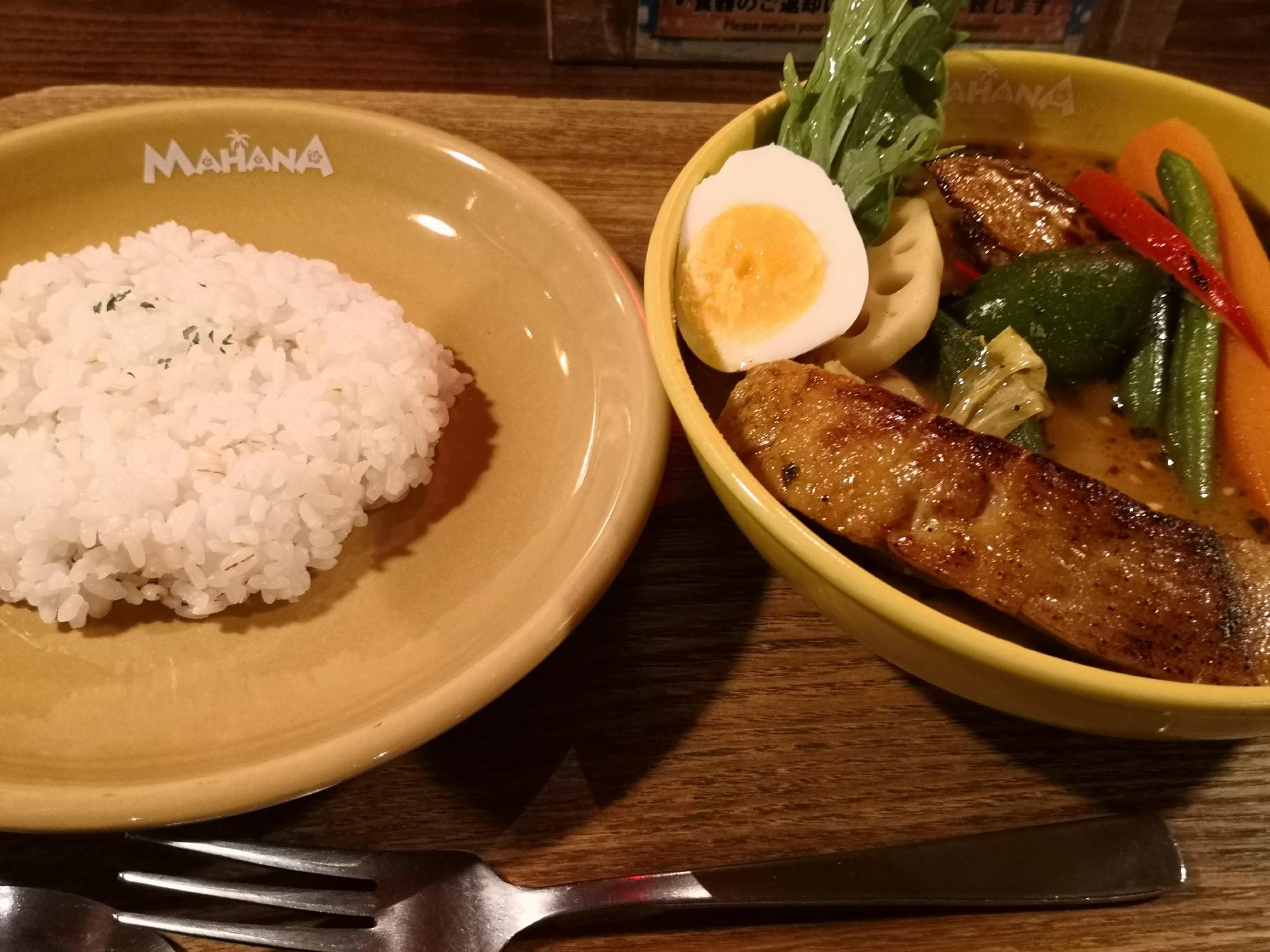 札幌グルメ スープカレー 札幌駅近く マハナ