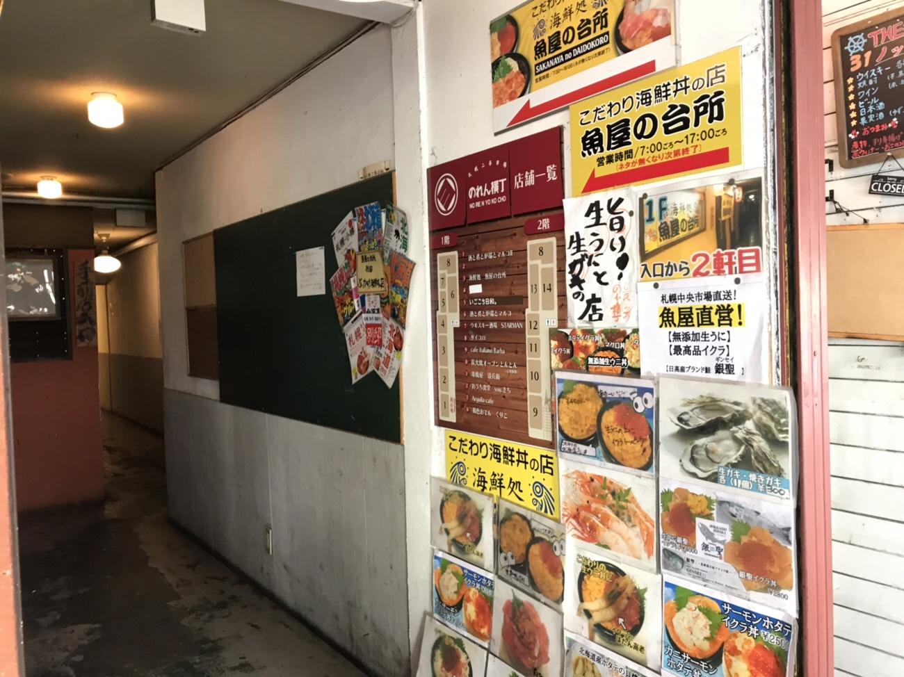 海鮮丼が美味しい 魚屋の台所 二条市場