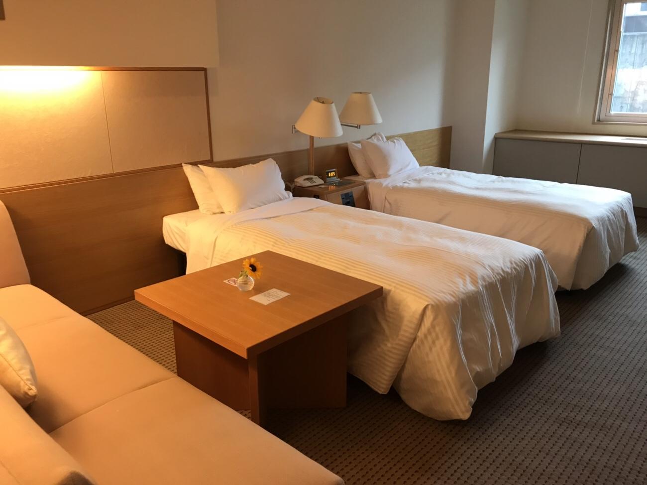 ホテルクラビーサッポロツインルーム部屋の様子