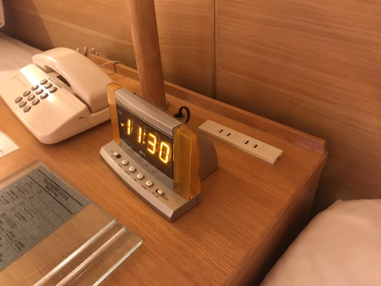 ホテルクラビーサッポロ部屋の電源