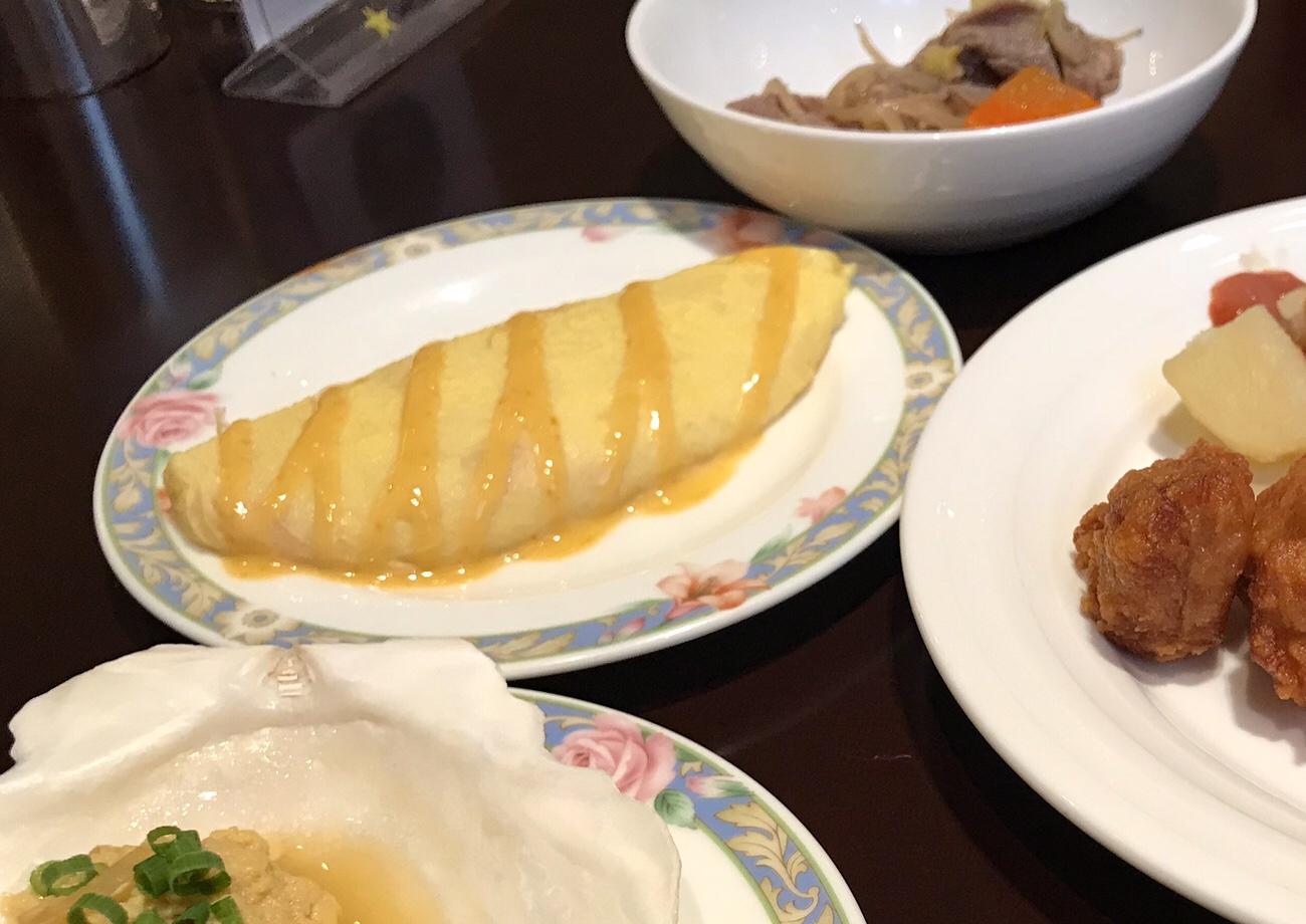 オムレツ ホテルクラビーサッポロ 朝食ブログ