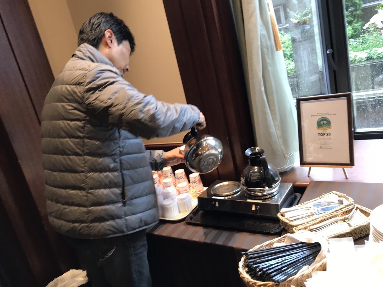 コーヒーは持ち帰ることができるホテルクラビーサッポロ 朝食ブログ