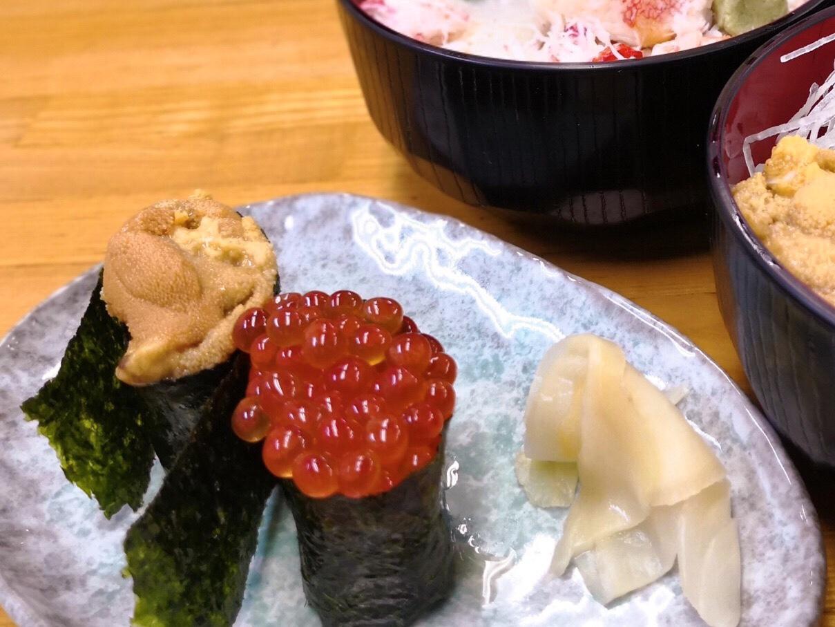 寿司一貫から注文できる二条市場の近藤昇商店