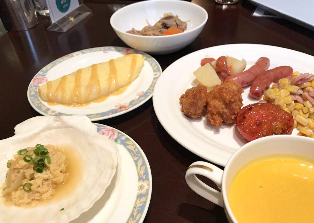 ホテルクラビーサッポロ 朝食で食べたものブログ