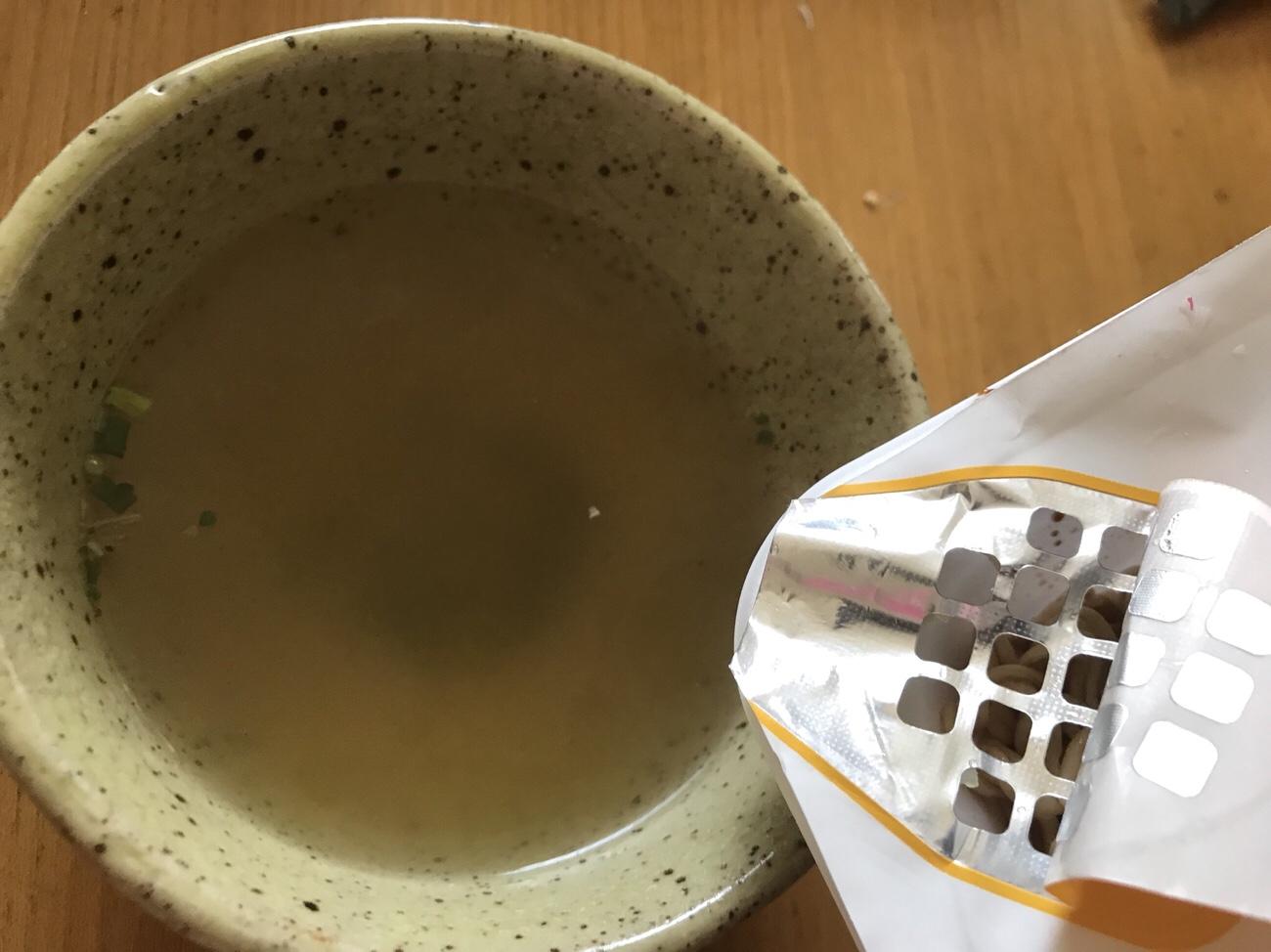 マルちゃん焼きそば弁当のスープは湯切りしたお湯で