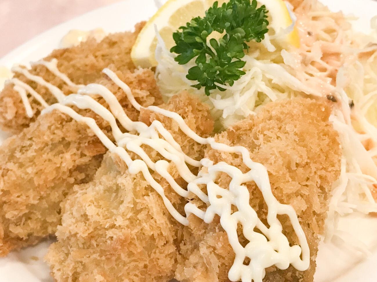 カキフライ 広島空港での食事