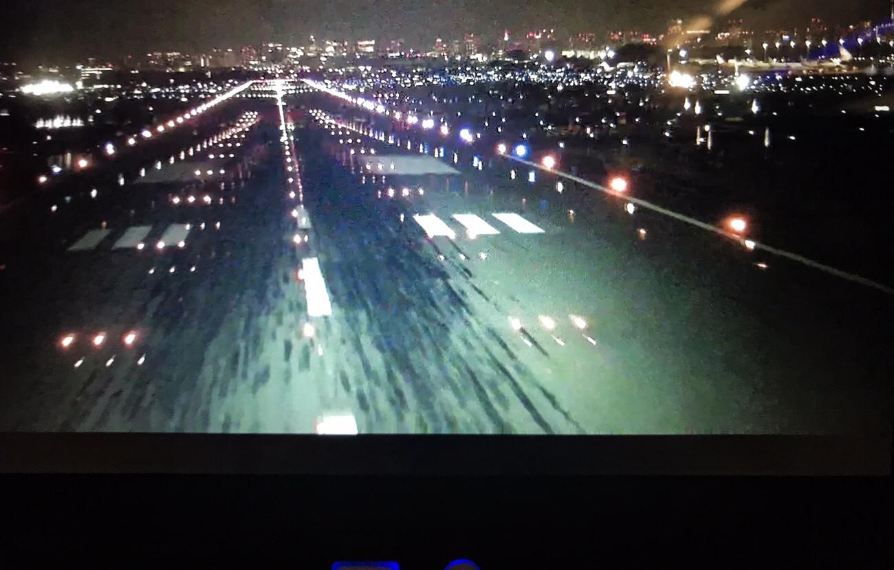 コックピット景色が見えるシートモニターANAA321neo 搭乗記ブログ
