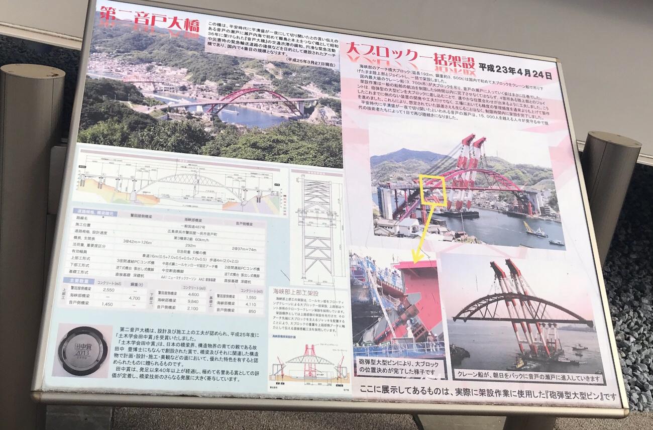 大ブロック一括架設した第二音戸大橋 呉観光におすすめ