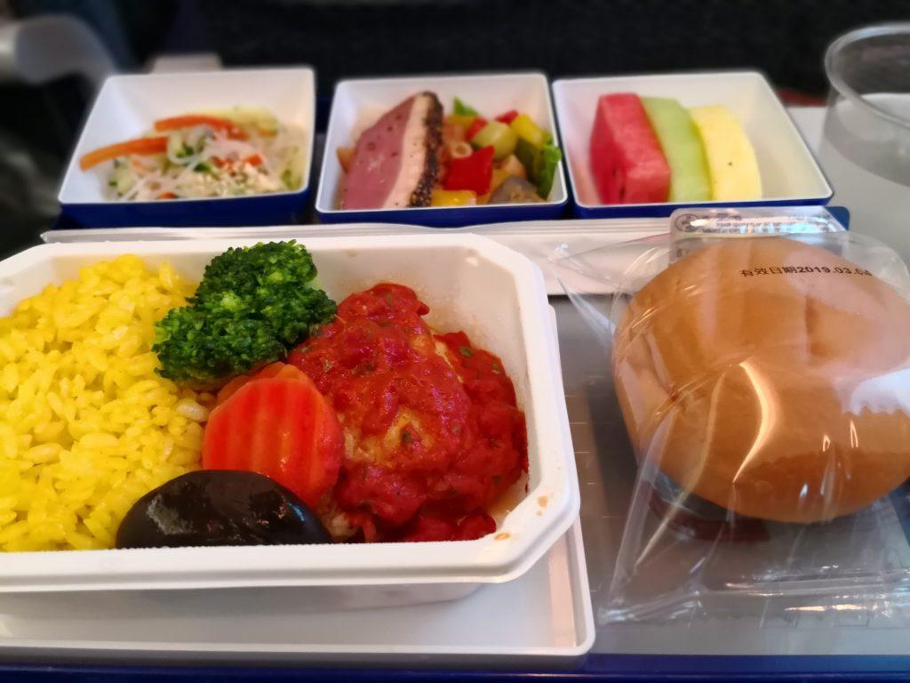 羽田台北松山空港便ANA機内食