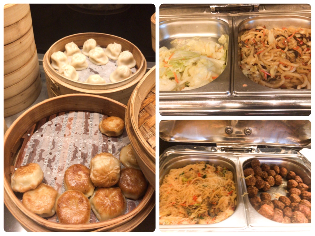 台北松山空港VIPラウンジの食べ放題小籠包