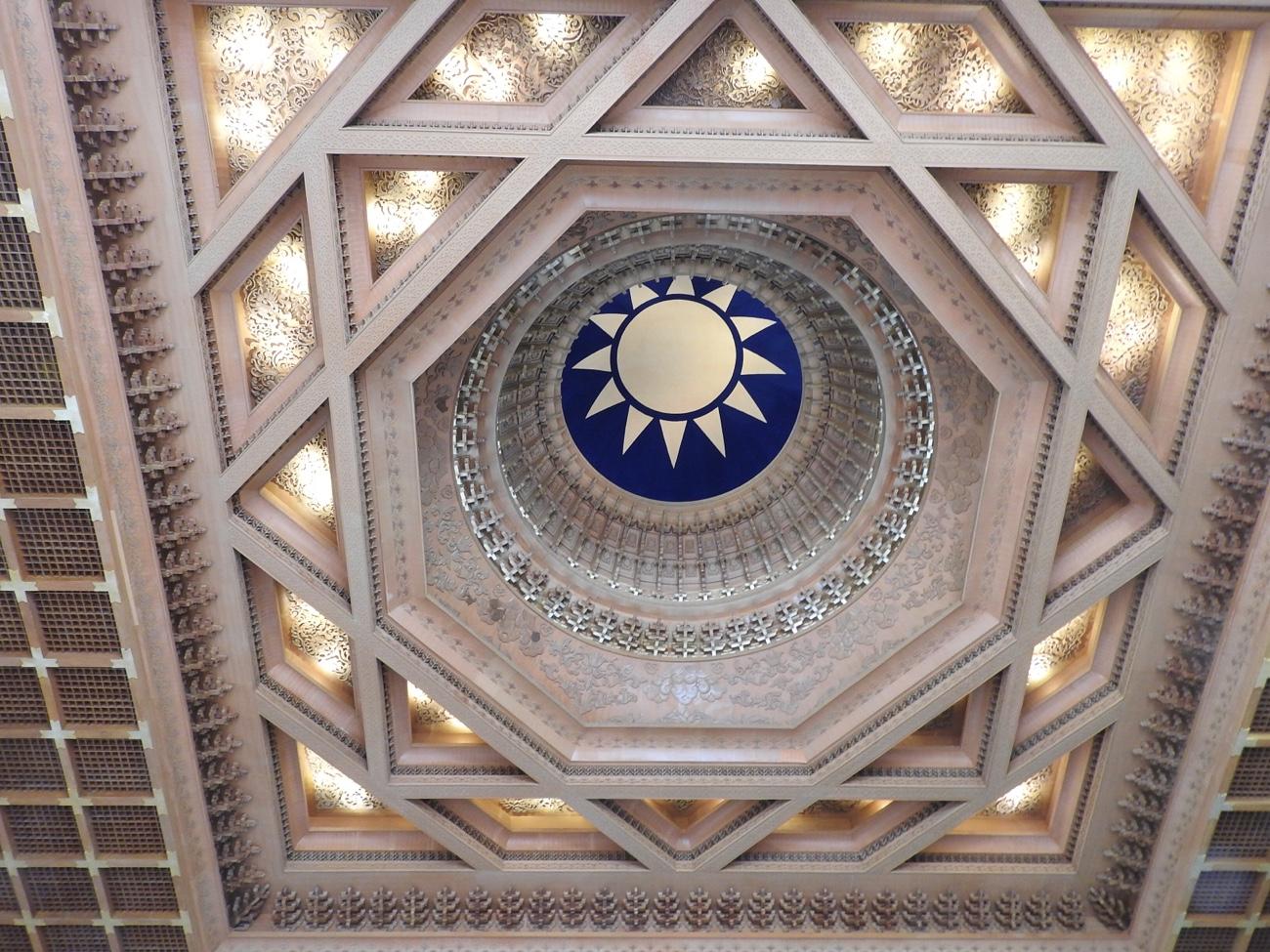 中正記念堂(台北)の天井