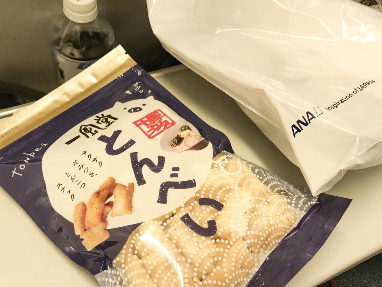 ANAの国内線機内食冊子から一風堂とんべい