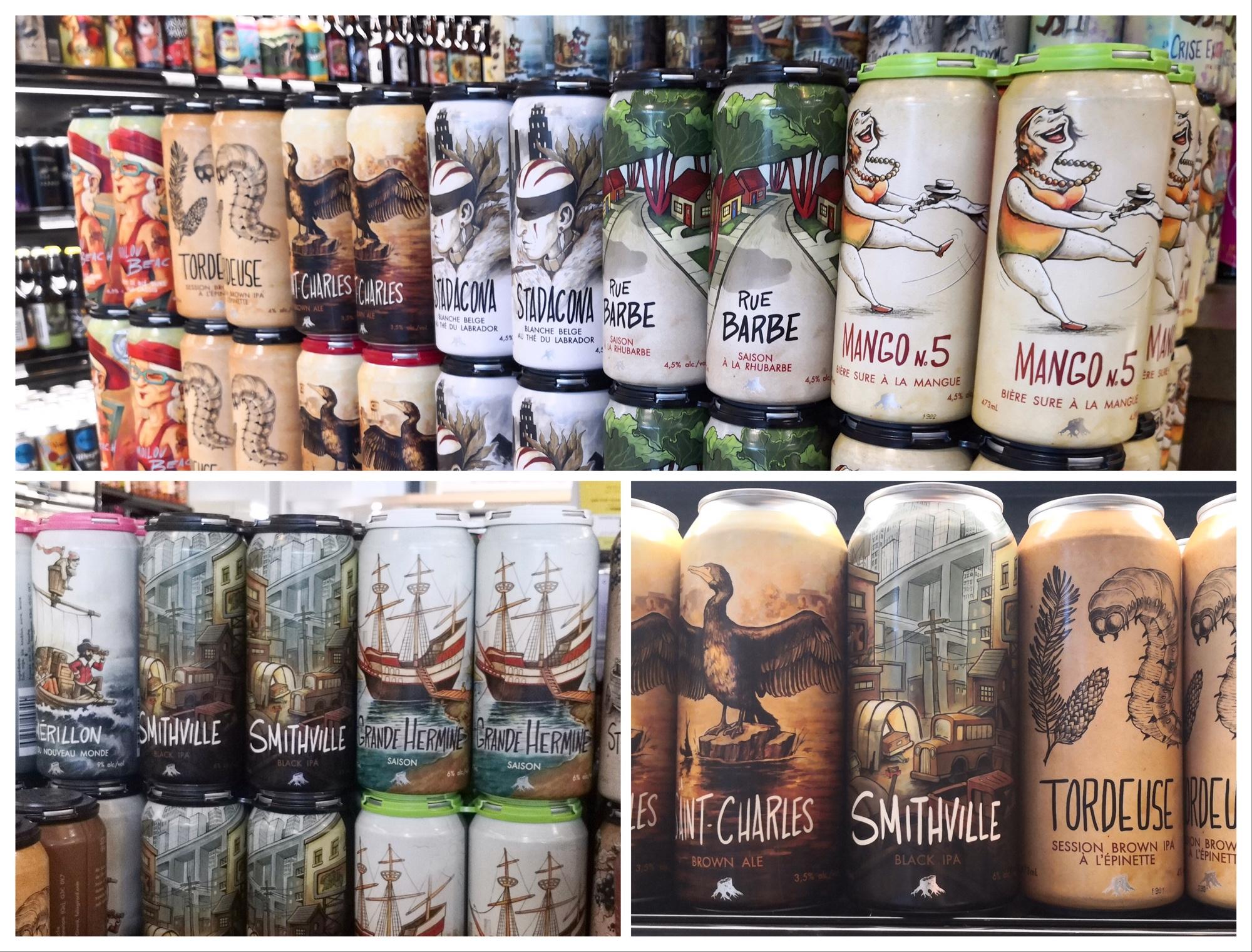 ケベックシティのビール人気ショップ ルグランマルシェのクラフトビール