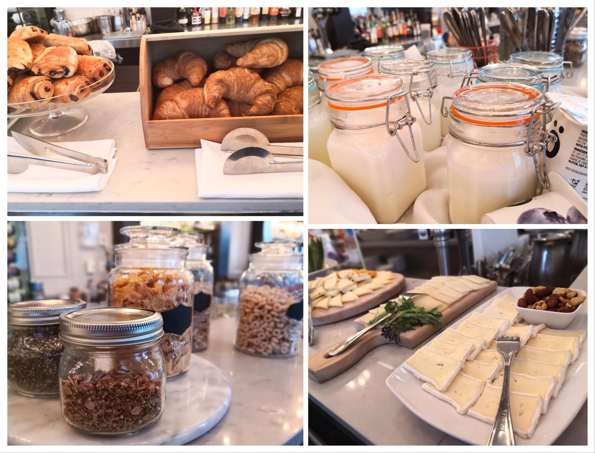 ブラッセリ701モントリオールのレストラン朝食ビュッフェ