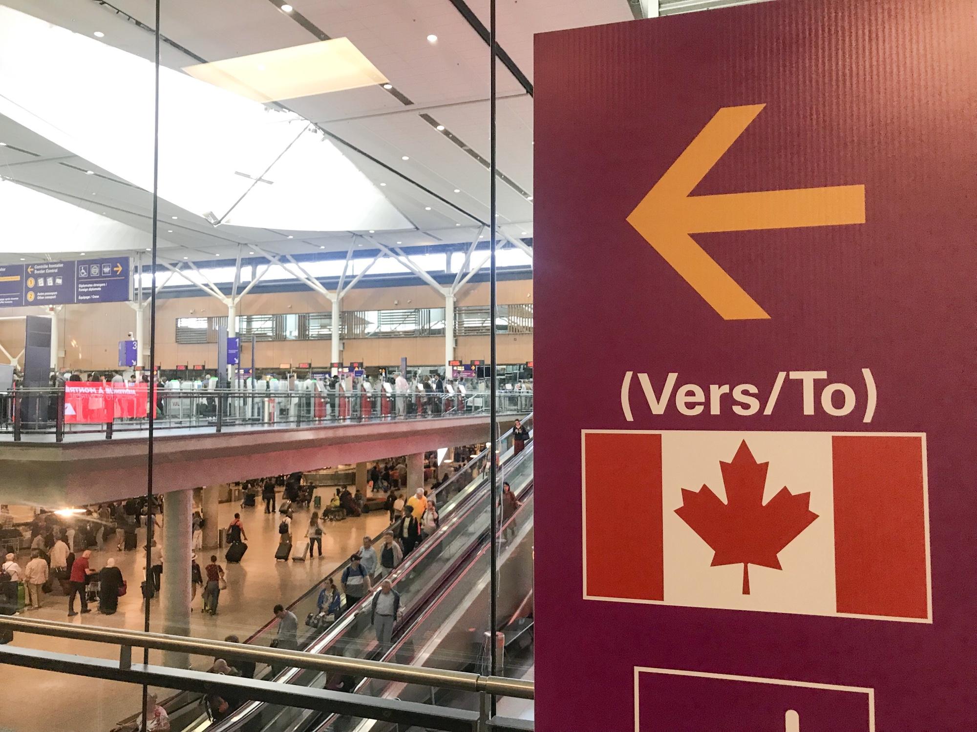 カナダ入国手続き書類なし
