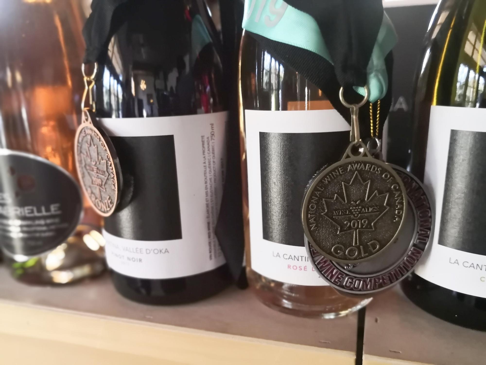 賞をとったワイン vignoble riviere du chene