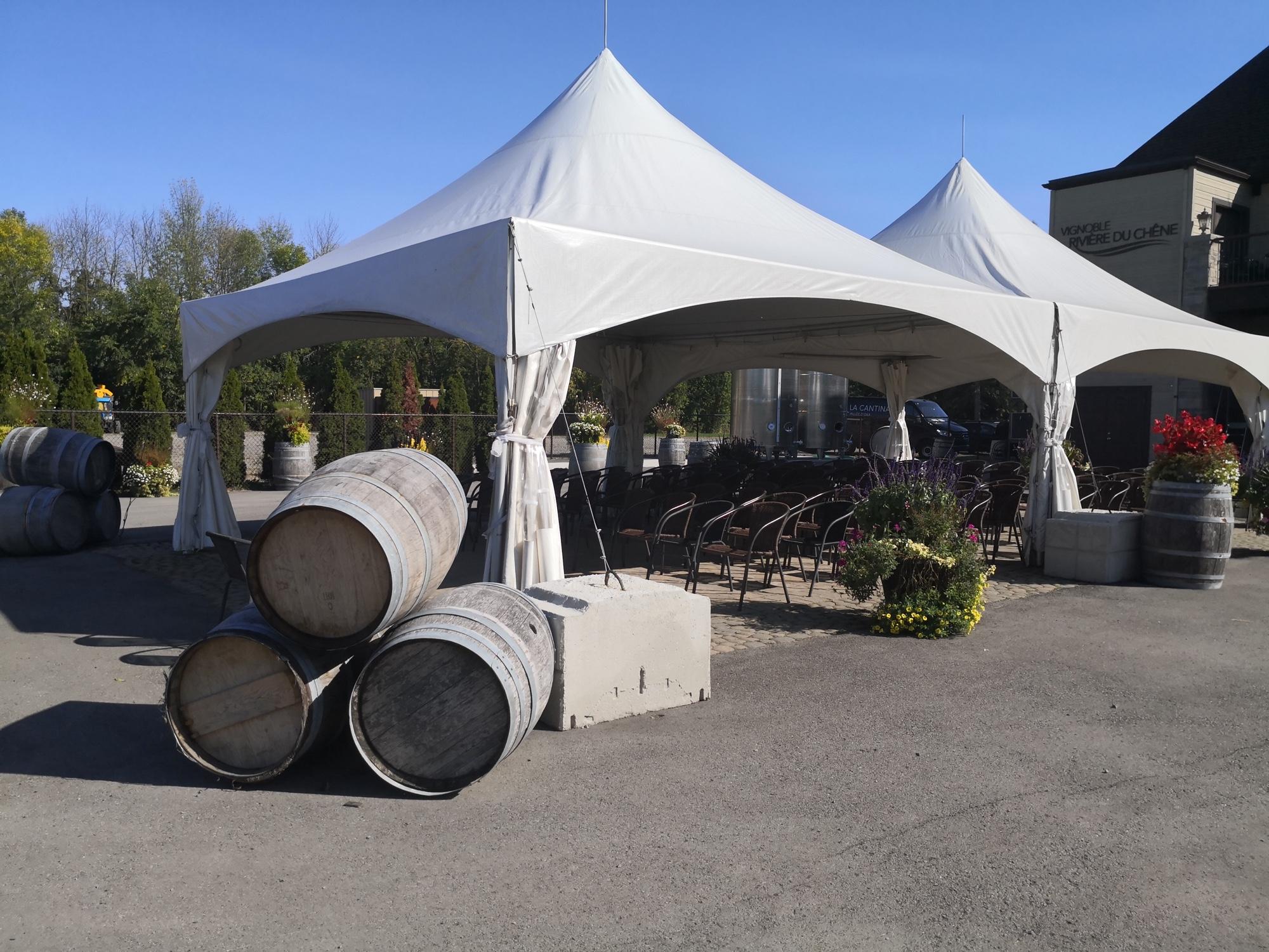 結婚式やパーティーもできるローレンシャンの葡萄園