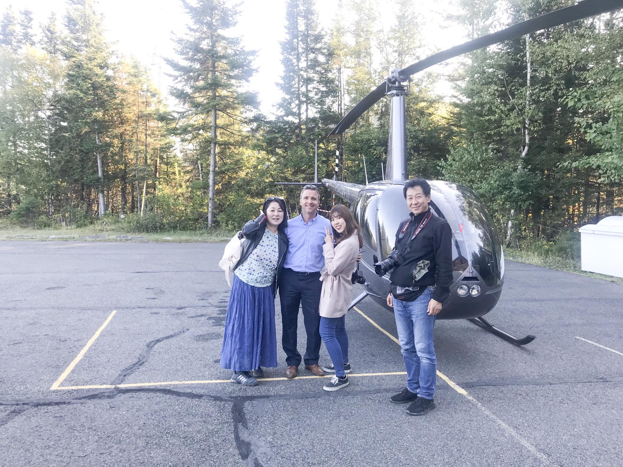 ローレンシャン紅葉 観光ヘリコプター