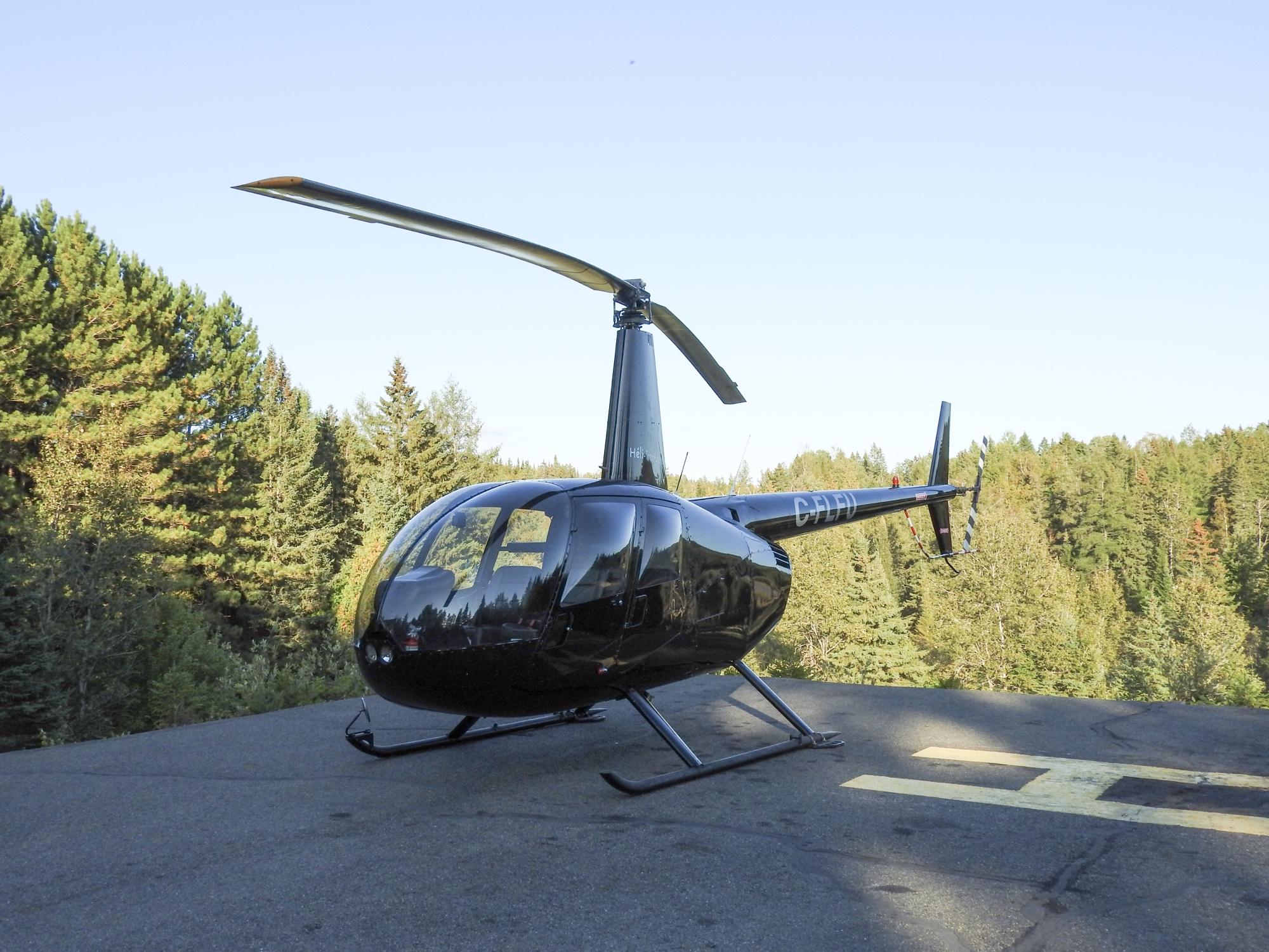 ローレンシャン モントランブランの ヘリコプター遊覧飛行。
