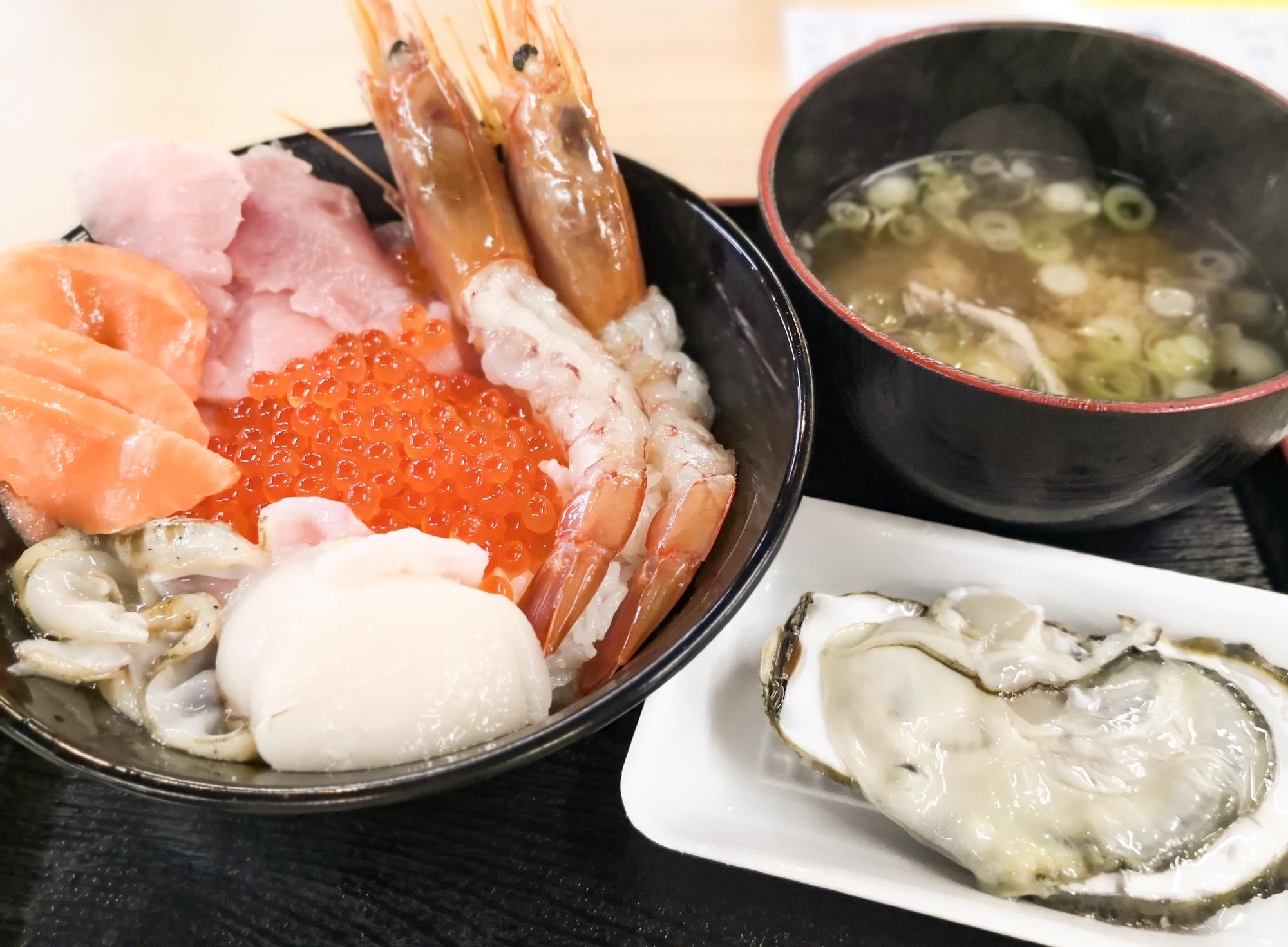 塩釜市場のマイ海鮮丼ブログレポート