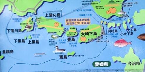 とびしま海道 地図 観光おすすめスポット