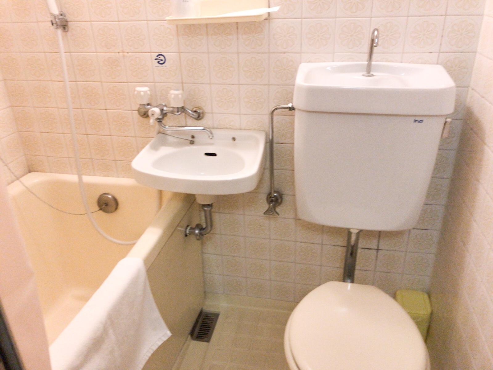 平和台ホテル本館のトイレバス