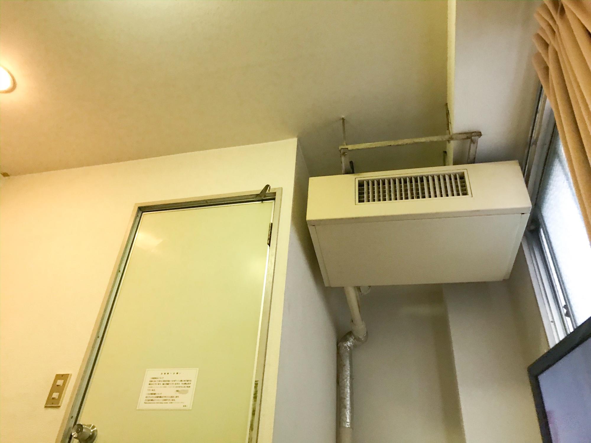 平和台ホテル本館の不思議なエアコン