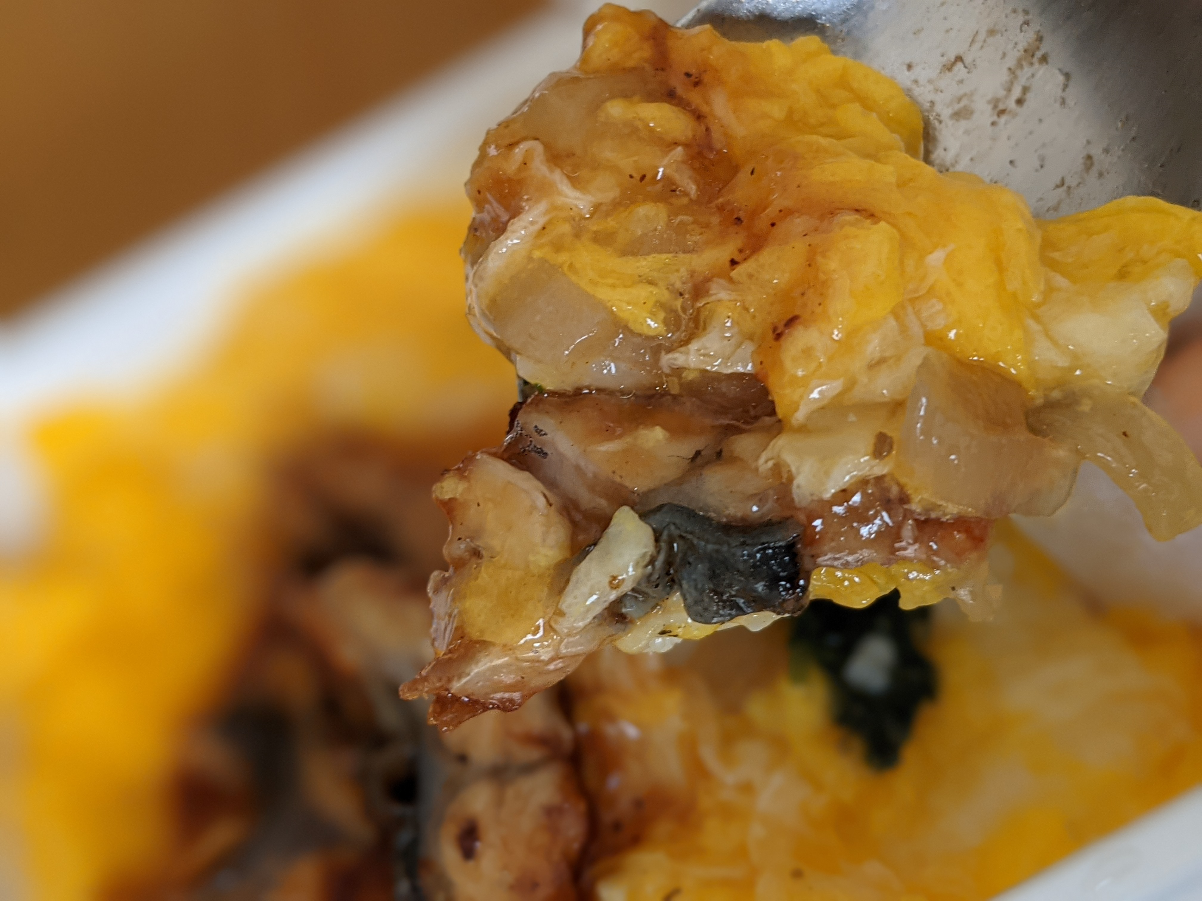 ANA機内食の鰻玉丼