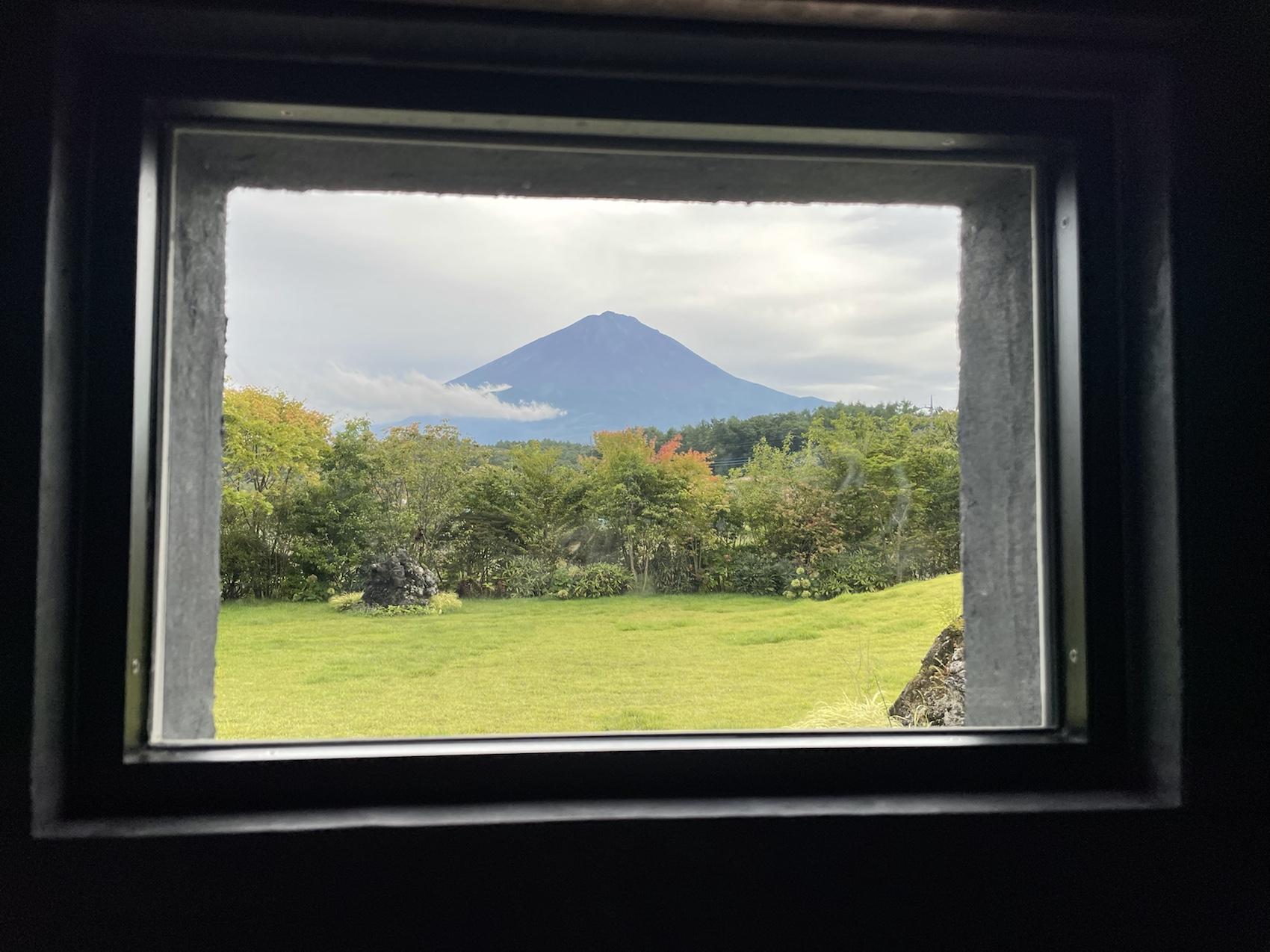 富士山が見える風呂